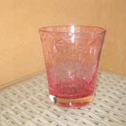 a/1 verre bullé rose