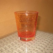 a/1 verre bullé orange
