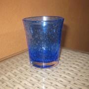 a/1 verre bullé bleu