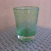 a/1 verre bullé vert